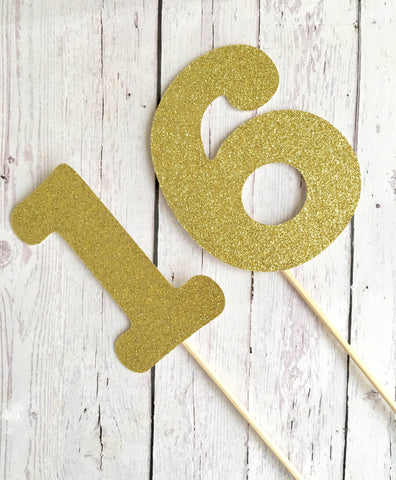 Cardstock SINGLE NUMBERS Cake Topper