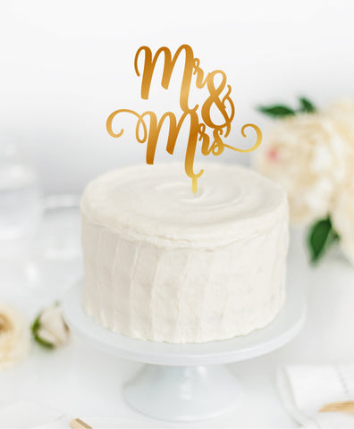 Acrylic Cake Topper 'MR & MRS'