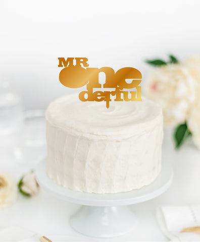 Acrylic Cake Topper 'MR ONEDERFUL'