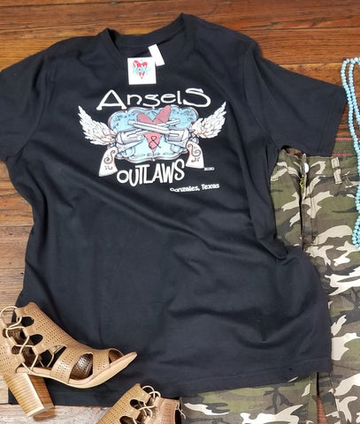 Angels & Outlaws Black Logo Tee
