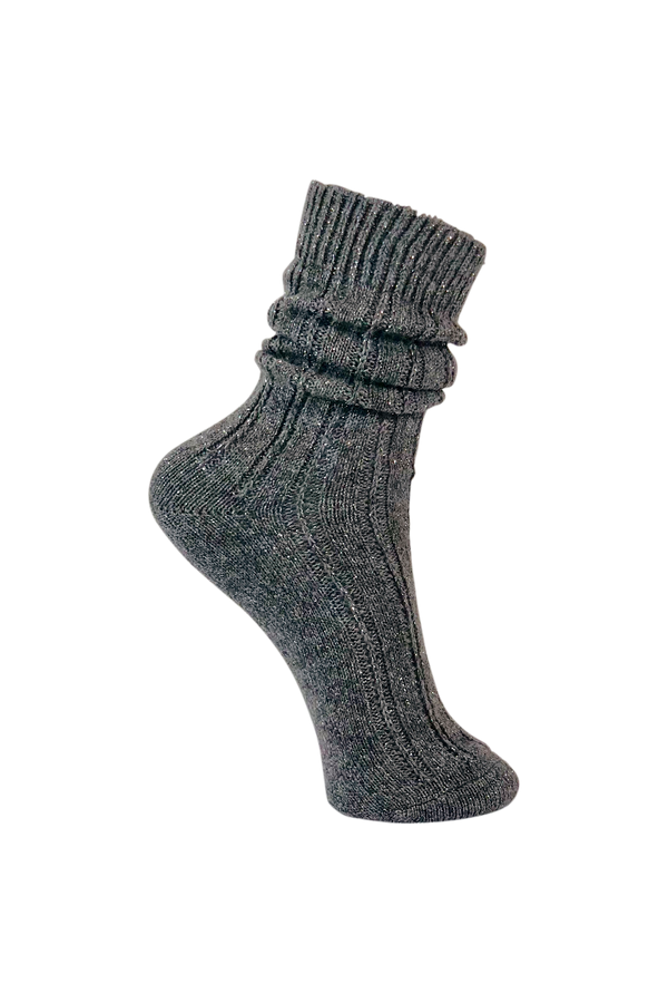 Himalaya Wool Lurex Socks - Grey