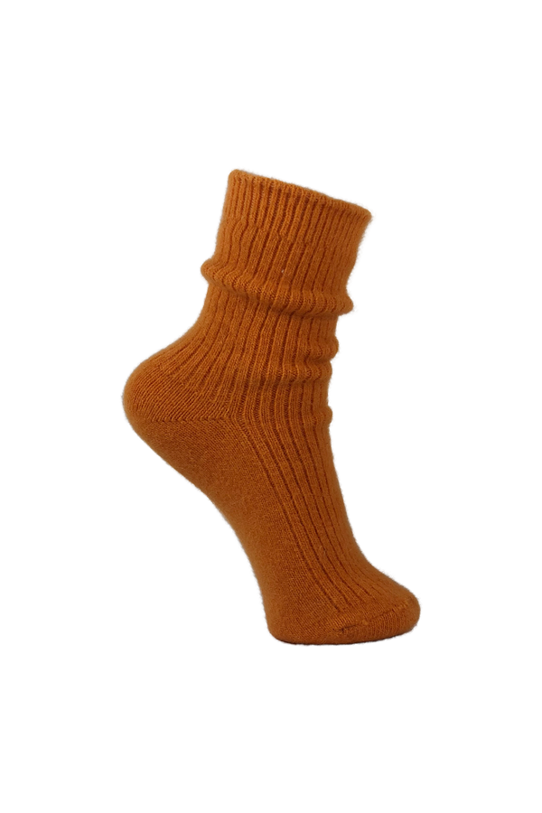 Ronja Wool Socks - Orange