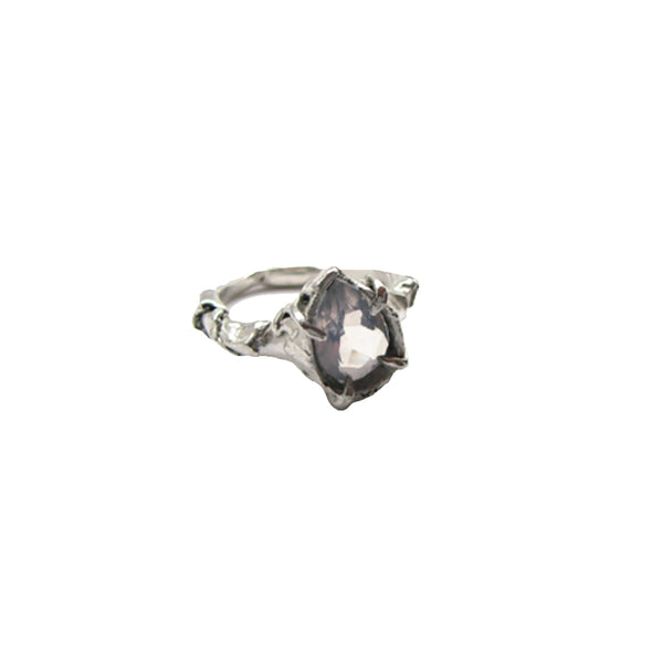 Lavender Quartz Sterling Silver Statement Ring
