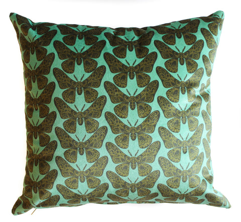 velvet moth pillow sham