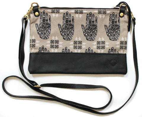 Hands and clover townie cross body