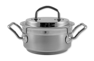 Silga Teknika World's Best Stainless Steel Cookware Saucepan or Casserole with a lid - 1.5 litres