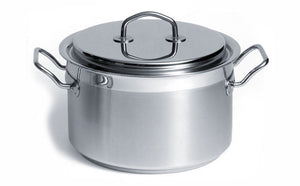 Silga Teknika World's Best Stainless Steel Cookware High Saucepan or Casserole with a lid - 4 litres