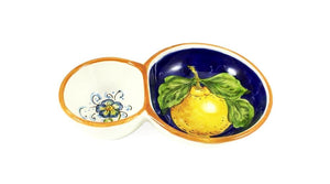 Borgioli - Lemons on Blue - Olive Dish