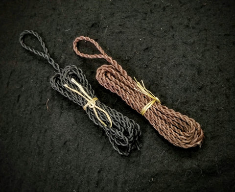 Bow String - Flemish Twist Timber Hitch Adjustable (Black / Brown)
