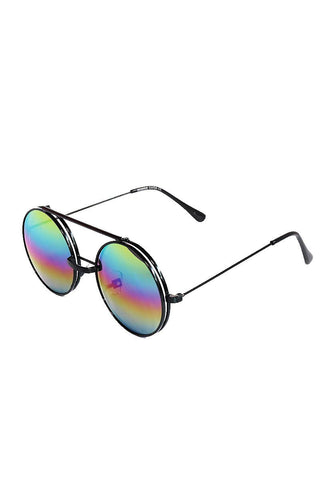 Boston Rim Flip Up Sunglasses-Multi