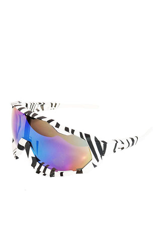Zebra Shield Sunglasses-White