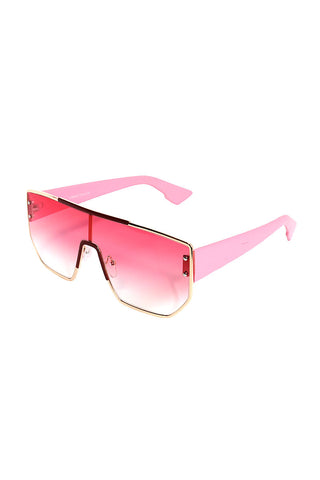 Miami Shield Sunglasses-Pink