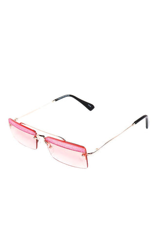 Glitter Top Bono Sunglasses-Pink