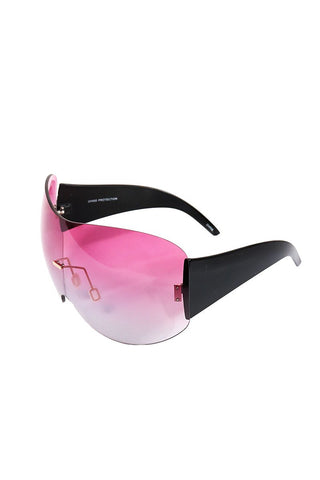 Large Shield Duty Sunglasses-Pink