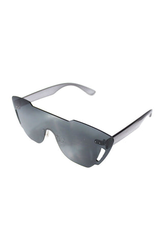 Cutout Frameless Sunglasses- Black