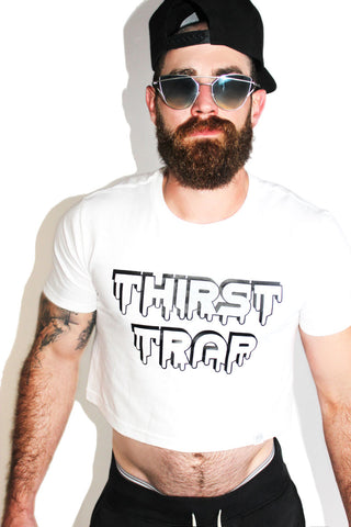 Thirst Trap Crop Tee- White