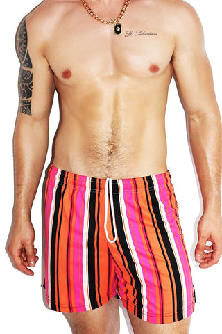 Gelato Athletic Shorts-Orange