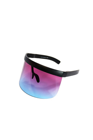 Mono Face Shield Sunglasses-Blue