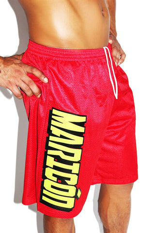 Maricon Long Shorts- Red