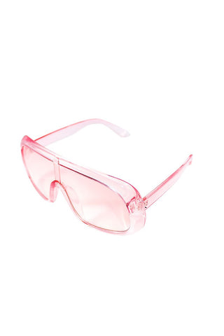 Futuria Shield Sunglasses-Pink