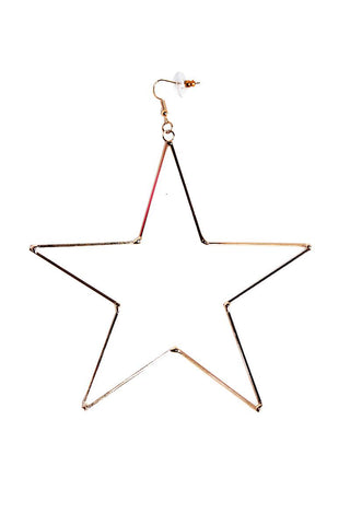 Oversized Star Single Earring-Gold