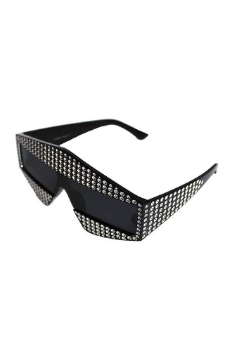 Disco Space Shield Sunglasses-Black