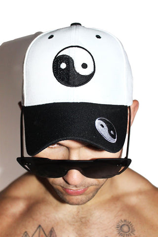 Ying Yang Dad Hat-White