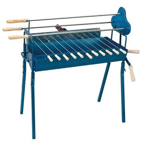Charcoal BBQ - BBQ Set - Traditional Greek Cypriot Foukou Charcoal Cyprus BBQ - Large Blue