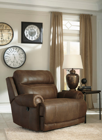 Austere  Contemporary Brown Color soft Upholstery Zero Wall King Size Recliner