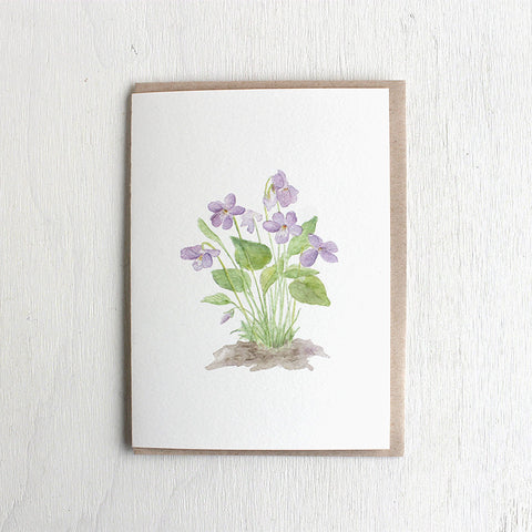 Violet Note Cards by watercolor artist Kathleen Maunder