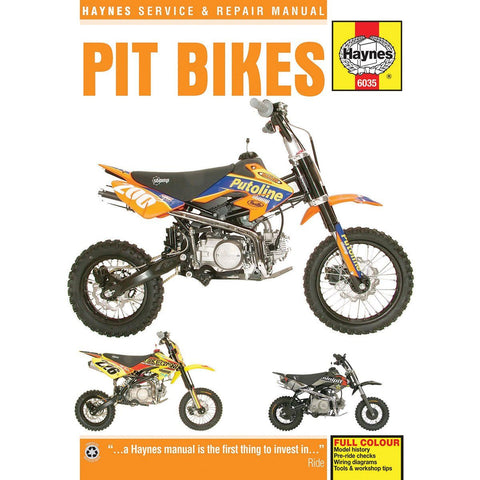 Haynes Pit Bike Manual - 6035 - Chinese 4-Stroke Air-Cooled Horizontal Engines - 50cc - 150cc