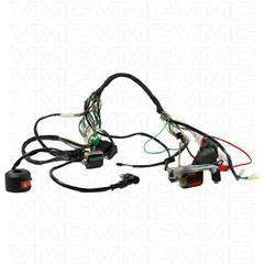 Complete Electrical ATV Wiring Harness 50cc - 125cc - VMC Chinese Parts