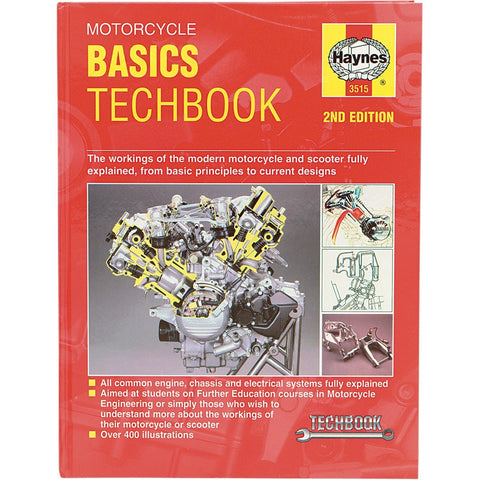 Haynes Motorcycle Basics Manual - 3515 - Basic Principles Techbook - [HM-1083]