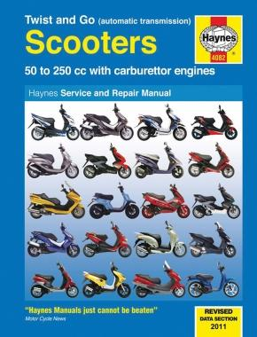 Haynes Twist and Go Scooter Manual - Automatic Transmission Scooters with Carbureted Engines 4082