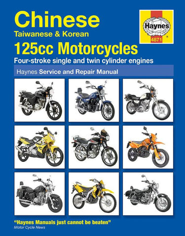 Haynes Motorcycle Manual - 4871 - Chinese Taiwanese & Korean - 125cc