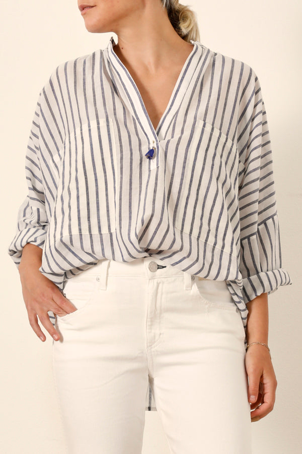 Two :: Stripe Two Pocket Shirt