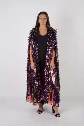 Any Old Iron Sequin Spiked Cape