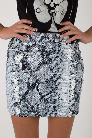 Any Old Iron Whitesnake Sequin Skirt