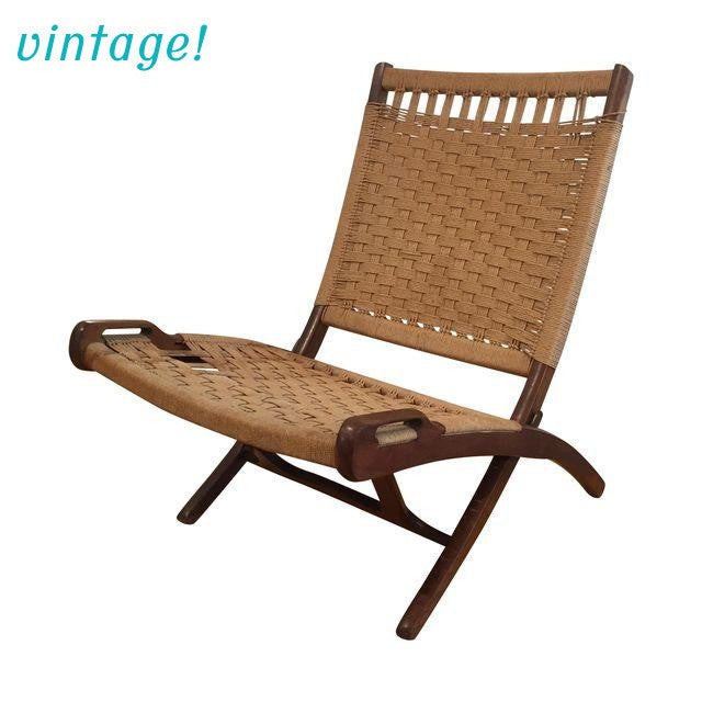 Vintage Ebert Wels Folding Rope Chair - touchGOODS