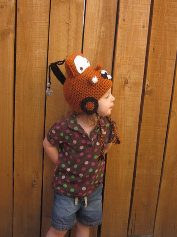 Rusty Tow Truck Hat - Crochet Tow Truck Hat - Crochet Car Hat - Kids Winter Hat - Crochet Winter Hat