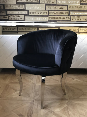Black Luxury Glamour Armchair