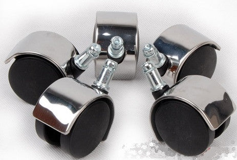 5 x 50mm Chrome Steel Office Chair Swivel Castors Wheels