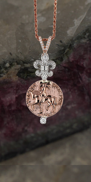 Joan of Arc Pendant -A Little Courage-