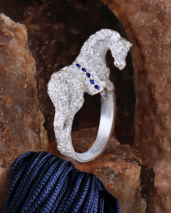 Pave Horse Ring #1621 - Bennett Fine Jewelry