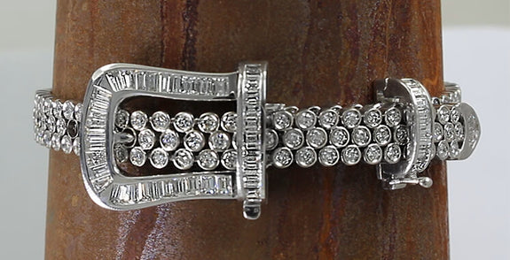 Diamond Buckle Bracelet with 5.54ctw - Bennett Fine Jewelry