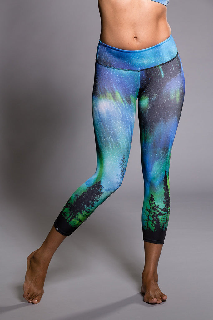 Graphic Capri - Northern Lights by Onzie, Onzie - Pronounce Activewear