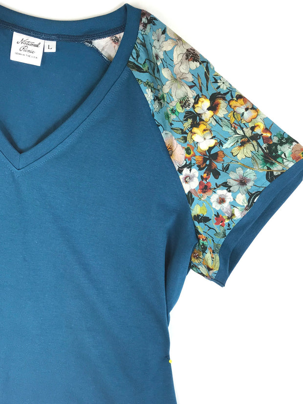 #1912 Teal-icious V-Neck