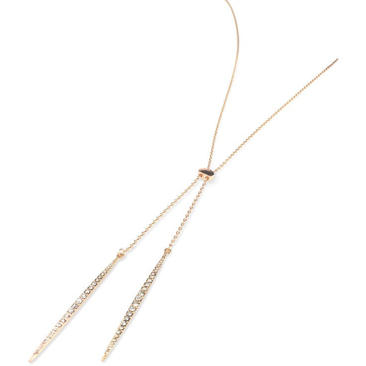 Ginger Rose Gold Lariet Necklace