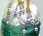 Removable Locking Number Stitch Marker Set- Lilac