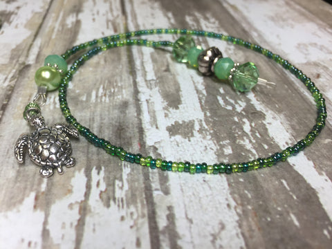 Turtle Beaded Bookmark in Green , accessories - Jill's Beaded Knit Bits, Jill's Beaded Knit Bits  - 1